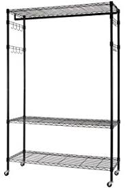 Rolling Coat Rack With Shelf Amazon Cosway Heavy Duty Rolling Clothes Rack Portable Shelving 39