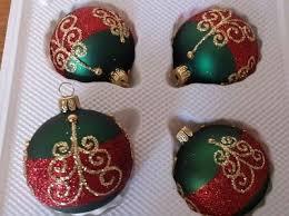 Christbaumkugeln Weihnachtliches 4er Set Glaskugeln Inge