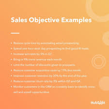 Objective For Resume In Sales The 9 Most Important Types Of Sales Objectives Examples