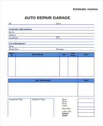 14+ Simple Auto Repair Invoice Template Images