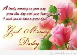 good morning darling quote card