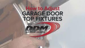 ddm garage doorsHow to Adjust Garage Door Top Fixtures  YouTube