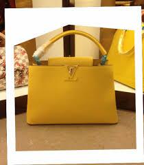 louis vuitton yellow bag. louis vuitton elegant capucines mm bag yellow-1 yellow l