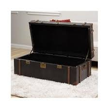 room vintage chest coffee table: living room leather trunk coffee table vintage tobacco storage