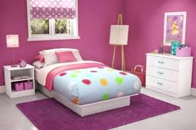Bedroom Designs For Teenage Girl Interesting Decoration Pink Girl Room With Frames On Striped Wall Design