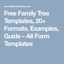 Free Family Tree Chart Free Family Tree Templates 20 Formats Examples Guide All Form