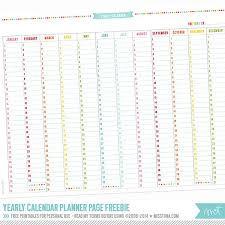Yearly Calendar Planner Template Free Yearly Calendar Planner Page Printables Planners Bullet