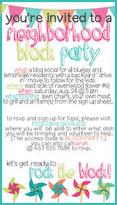 Neighborhood Party Invitation Wording How To Throw A Block Party Printable Invitation Template The