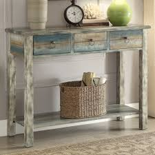 ACME Furniture Glancio Antique Console Table Reviews Wayfair