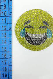 Emoji Taşlı Ütü İle Yapışan Aplik