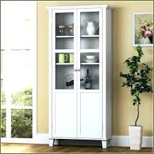 tall wood storage cabinets cabinet narrow with doors white wo