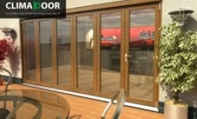 exterior bifold doors. Elite Oak Folding Doors - Climadoor Image Exterior Bifold