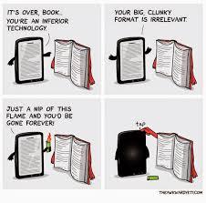 book versus ebook cartoon