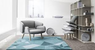 based on an origami pattern for a penguin this blue rug from bo concept was