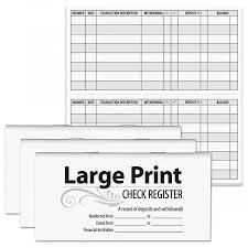 Large Print Check Registers Current Catalog