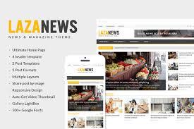 Wordpress Template Newspaper Lazanews News Magazine Newspaper Wordpress Theme