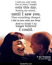 V For Vendetta Quotes Interesting I Told You Only Truth V For Vendetta Quotes Pics
