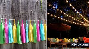diy backyard party decor cool ideas for decorations for parties easy and crafts