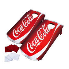 Wooden Bean Bag Toss Game Trademark Games CocaCola Wood Cornhole Toss Game Set100BBT100 67