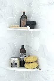 tile ledge in shower shower shelves corner modern gray shower organization hexagon tile bathroom ideas kitchen design shower shelf corner ledgestone tile