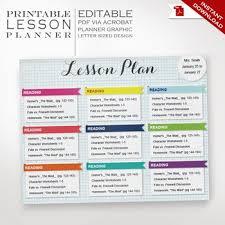 Teacher Organizer Planner Lesson Planner Printable Editable Lesson Plan Teacher Organizer
