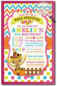 Fall Harvest Festival Birthday Invitation Di 692 Harrison