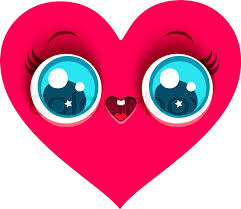 vector cartoon of a cute heart in kawaii style stock vector colourbox