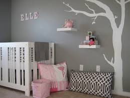 Baby Nursery Decor, Stickers Grey And White Baby Nursery Sample Tree  Classic Remarkable Colors Decoration