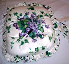 119 best WAVERLY LOVE images on Pinterest | Bedspreads, Cleveland ... & CUSTOM MADE RUFFLED CHAIR CUSHION WAVERLY SWEET VIOLETS COTTON SATEEN | eBay Adamdwight.com