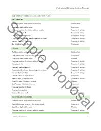 Cleaning Service Quotation Sample Sam Ple Proposal 7 Professional ...