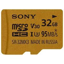 Купить <b>Карта памяти</b> SDHC <b>Micro</b> Sony 32GB UHS-I U3+<b>адаптер</b> ...