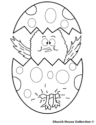 Easter Preschool Coloring Page L