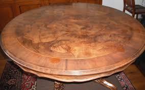 round walnut coffee table