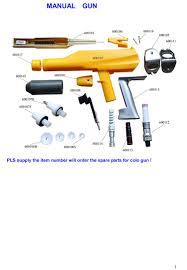 safety electrostatic spray powder coating paint equipment