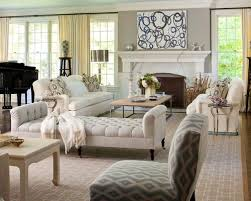 beach living room furniture. example of a classic living room design in new york with music area and gray beach furniture
