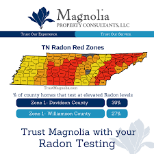 Radon Chart County Radon Risk Chart Nashville Home Inspection Radon