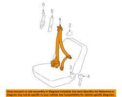 toyota oem 04 08 corolla front seat belt buckle retractor left 7322002132b0