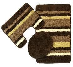bathroom mat set 3 piece bath rug set beige brown bathroom mat sets target