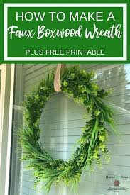 faux boxwood wreath small how to make a home by faux boxwood wreath