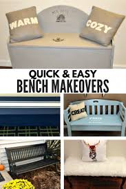 5 quick and easy diy bench makeovers ourcraftymom refinishedbench farmhousestyle farmhousehens