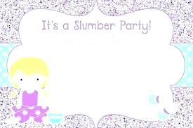 Birthday Party Invitations Free Printable Sleepover Slumber