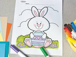 Grab the crayons, the paint set or some glue and glitter to have some bunny fun. Fuzzy Easter Bunny Free Printable Coloring Page Fun365