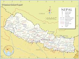 administrative map of nepal  nations online project