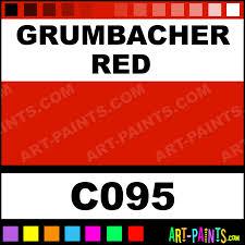 Grumbacher Red Academy Acrylic Paints C095 Grumbacher