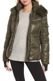 S13 Coat Size Chart Nyc Kylie Faux Fur Trim Gloss Puffer Jacket