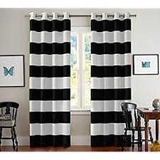 Turquoize Nautical Blackout Curtains(2 PANELS), Room Darkning, Grommet Top,  Light