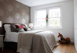 Bedroom, Minimalist Modern Small Master Bedroom Decorating Ideas With Brown  Wallpaper Combined With White Paint Color: Decorate Small Master Bedroom  Using ...