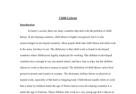 essay writing about child labour child labour simple english the encyclopedia