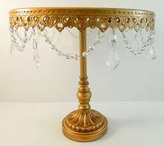 Gold/Crystal Cake Pedestal 12