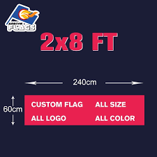 2x8FT Camouflage Custom Flag 60X240cm 100D Polyester Free ...